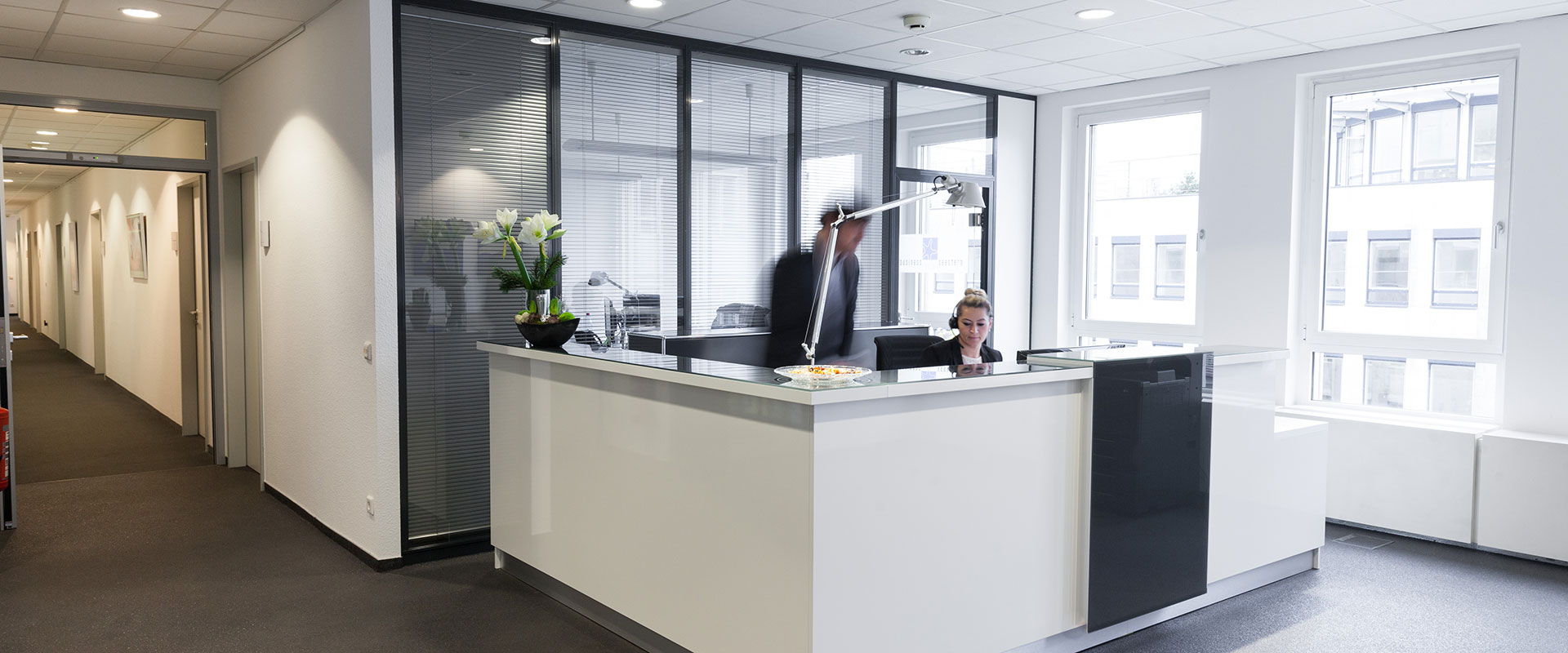 Empfang im Business Center Seestern